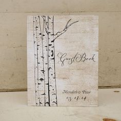 Rustic Wedding Guestbook Guest Book  by starboardpress on Etsy