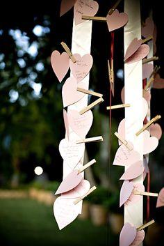 Trendy Wedding, blog idées et inspirations mariage ♥ French Wedding Blog: Un livre d'or original : le bloc-notes personnalisé