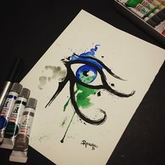 horus tattoo watercolor - Google Search