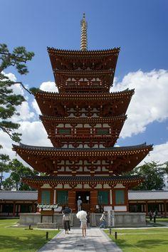 Nara, Yakushiji, West Pagoda. Hosso sect (Yogacara)