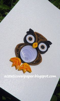 Cute quilled baby owl by Sylvia Hon on Quillingcafe.ning.com