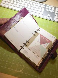 L'agenda filofax customisé par Armance à l'aide d'intercalaires et du calendrier printable.