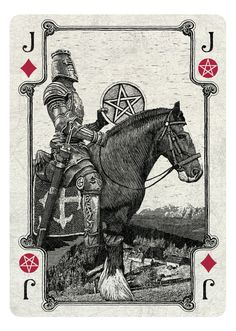 ARCANA playing cards by Chris Ovdiyenko - Kickstarter. Jack of Diamonds/Pentacles