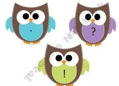 Primary-Essentials Shop - | Teachers Notebook..Owl themed Puncutation posters