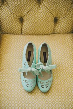 aqua wedding shoes, photo by SetFour Photographers http://ruffledblog.com/multicultural-san-diego-wedding #weddingshoes #shoes #bridal