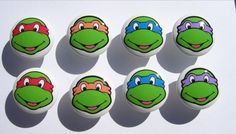 8 Teenage mutant ninja turtles TMNT faces  boys kids  Dresser Drawer Knobs