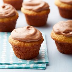 Weight Watchers Cupcake Bites with Chocolate-Hazelnut Frosting- Vanilla yogurt helps make these cupcakes super-moist and fluffy. A rich, creamy frosting is the perfect finish!