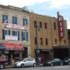 6th Street in Downtown Austin -  Shakespeare's Pub & Alamo Drafthouse  #Austin #Texas #downtown #6thStreet #pizza #beer #roppolospizzeria #drafthouseaustin