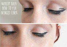 Make-up Hack: Fixing Winged Liner #makeup #makeupaddict #makeuplook #beauty #beautyblogger #bblog #bblogger #fotd #makeupproducts