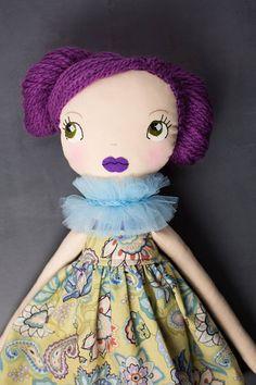 Emily-poupée OOAK poupée dart poupée de chiffon poupée de