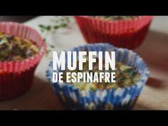 Muffin de espinafre - Lucilia Diniz