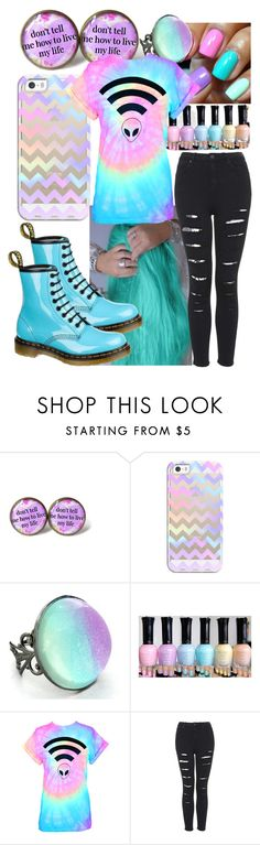 """Pastel Goth"" by katzap ❤ liked on Polyvore featuring Casetify and Dr. Martens"