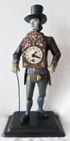 Complete with its original movement, key and pendulum. From Vintage Dutch Clocks on eBay, seen in Vintage & Antiques Community on G+