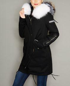 Fox-Trim Rabbit Fur-Lined Parka Fur Lined Coat, Fur Trim Coat, Fur Keychain, Trendy Fashion, Fashion Outfits, Fur Clothing, Rabbit Fur, Fox Fur, Canada Goose Jackets
