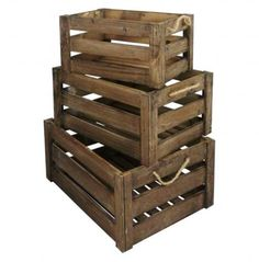 Set of 3 Vintage Farm Shop Style Wooden Slatted Apple Crate Storage Box Display east2eden http://www.amazon.co.uk/dp/B00JZNZ5B2/ref=cm_sw_r_pi_dp_vACKtb10SMNBPQT2
