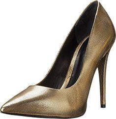 Aldo Women's Forquer-U Dress Pump, Gold, 8.5 B US