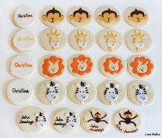 Animal Baby Shower Cookies via iambaker.net