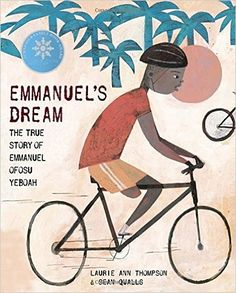 Emmanuel's Dream By Laurie Ann Thompson Curricular Connections:(7) Reading/Comprehension of Literary Text/Literary Nonfiction. Students understand, make inferences and draw conclusions about the varied structural patterns and features of literary nonfiction and provide evidence from text to support their understanding. Students are expected to describe the structural and substantive differences between an autobiography or a diary and a fictional adaptation of it.