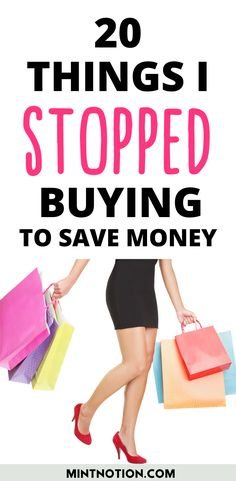 How to stop buying things. Here's a list of 20 things I quit buying to save money. Tips to help you stop buying too much stuff or things you don't need. Frugal Living Tips, Frugal Tips, Life On A Budget, Debt Free Living, Paying Off Student Loans, Create A Budget, I Quit, Saving For Retirement, Money Management