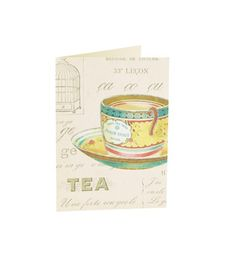 These sweet cards (Cavallini Vintage Tea Note Cards, $14.50 for 10; Paper-Source.com) give you plenty of space to write event details.