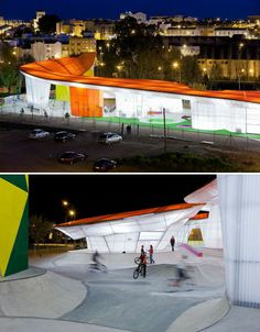 'Factoria Joven' skate park and climbing wall in Spain - funky!