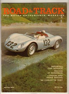 Road & Track Jan 1959 Vintage Car Magazine Corvette Goliath Tiger Racing Alvis