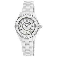 Akribos XXIV Women`s AKR485WT Allura White Ceramic Watch ♥