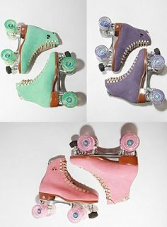 I got to get some skates so I can skate around on Belle Island! Obsessed with these punchy colored roller skates from Urban Outfitters. Roller Derby, Roller Skating, Rio Roller, Roller Rink, Pretty Pastel, Summer Of Love, Urban Outfitters, Girly, Purple