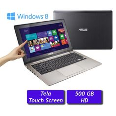"Notebook Asus VivoBook 11.6"", Touch Screen, Dual Core, 2GB, HD 500 GB, Windows 8 (X202E-CT041H)"