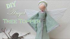 Diy Angels, Christmas Fairy, Fairy Dolls, Diy Doll, Tree Toppers, Crochet Hats, Floral, Fabric, Handmade