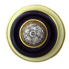 1stdibs | TIFFANY & Co Gold Onyx Diamond Ring