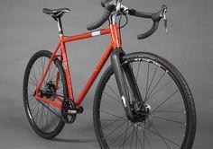 Cyclocross frame made in Portland. Belt drive single speed. Carbon fork. Fender mounts. Thanks Civilian Bikes!