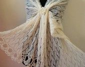 lace knitted stole wedding shawl handknitted lace BIG SIZE