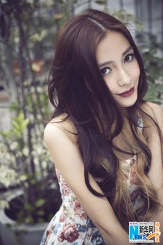 Hong Kong actress and model Angelababy Korean Beauty, Asian Beauty, Angelababy, Le Jolie, Beautiful Asian Women, Beautiful Actresses, Girl Pictures, Asian Woman, Kim Kardashian