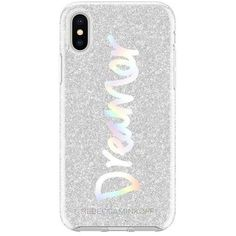 Rebecca Minkoff Dreamer Silver Glitter Case For Iphone X ($35) ❤ liked on Polyvore featuring accessories, tech accessories, silver and rebecca minkoff