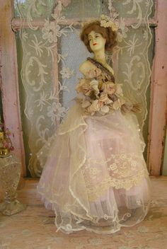 I have got to make a ballet pink and cream lace, rose ball gown for AG