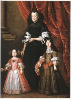 Justus Sustermans (1597–1681) Ferdinando de' Medici (1663-1713), Grand Prince of Tuscany and his sister, Anna Maria Luisa, (Electress of the Palatinate: 1691-1716) with their governess.