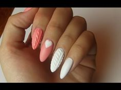 Knitted nails - sweterkowy manicure Semilac - YouTube