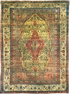 antico  kashan mohtasham persiano 1880