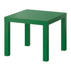 "LACK Side table - green, 21 5/8x21 5/8 "", $10.00"