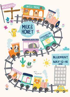 print & pattern blog - the  milk & honey studio at Blue Print in New York 2016