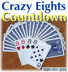Crazy Eights is an old game with many variations and rules. Learn the rules and see what other variations are out there for this family favorite card game Math Games, Games To Play, Classic Card Games, Family Card Games, Queen Of Spades, Traditional Games, Camping Games, Old Games
