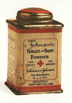Johnson's Toilet and Baby Powder Tin For Toilet and Nursery Antiseptic Perfumed Talcum.