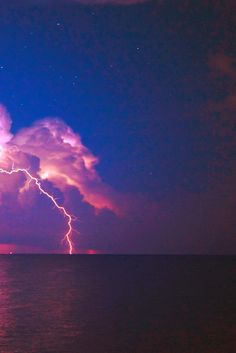 Love watching the lightning over the ocean