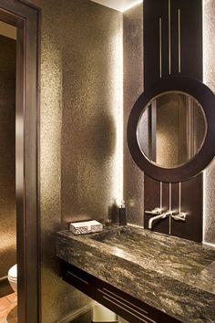 Powder Room eclectic bathroom