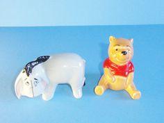 Beswick Of England Vintage Winnie The Pooh And Eeyore Porcelain Figurines Brown Backstamp