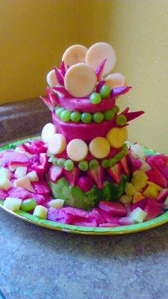 Watermelon cake Watermelon Cakes, Birthday Cake, Desserts, Food, Tailgate Desserts, Deserts, Birthday Cakes, Essen, Postres