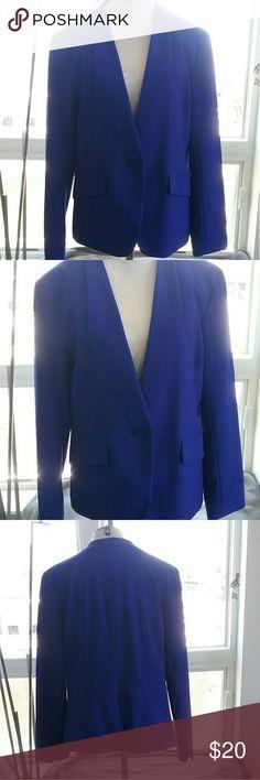 NY & Co Single Button Blazer Blue, single button blazer. Lined, however pockets are not functional. NY & Co Jackets & Coats Blazers
