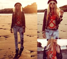 Sky and sand  (by Lina Tesch) http://lookbook.nu/look/3565087-sky-and-sand