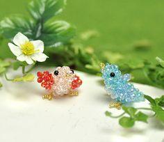 Beaded Bird PATTERN mini 3D Parts Club